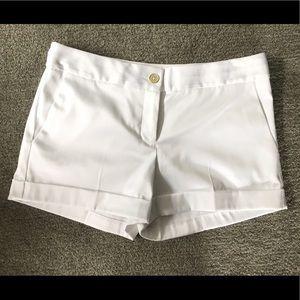 Women's Satin White Shorts size 4